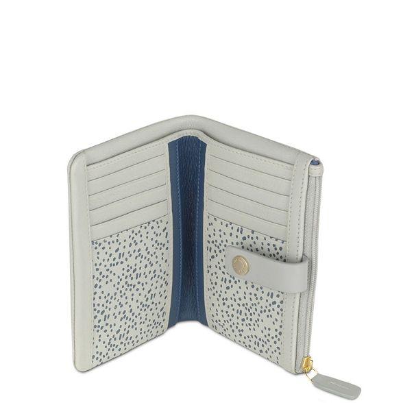 purse leather 'Larks Light folded Wood' blue Radley medium vaqZ0Twg