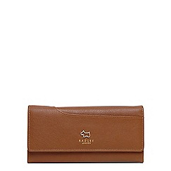 Radley - Tan leather 'Pockets' large flapover matinee purse