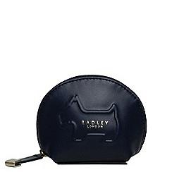 Radley - Navy leather 'Shadow' small zip around coin purse