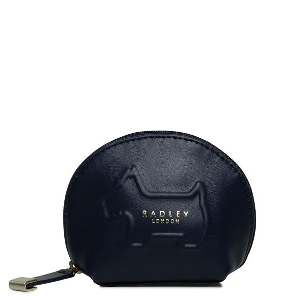 zip around purse small 'Shadow' Navy leather coin Radley xS6RW