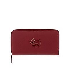 Radley - Wine leather 'Heritage Dog' large purse
