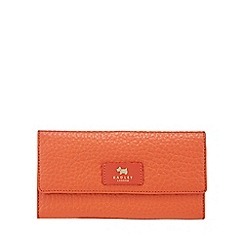 Radley - Orange pebbled leather travel wallet