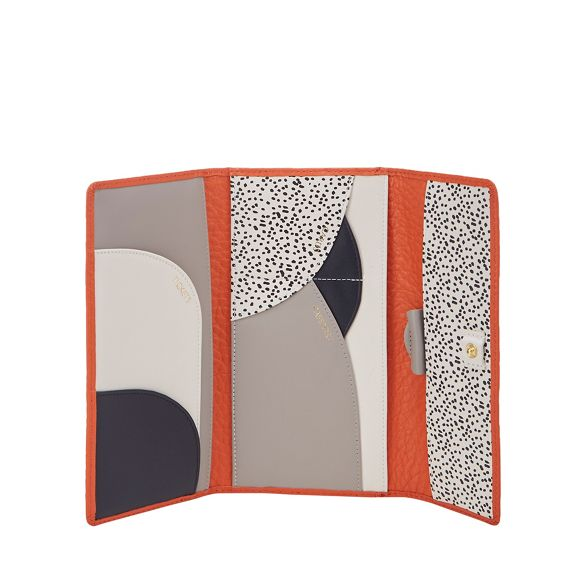 travel Radley pebbled wallet leather Orange wqpxqft46