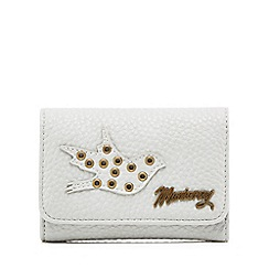 Mantaray - Grey eyelet detail medium flapover purse
