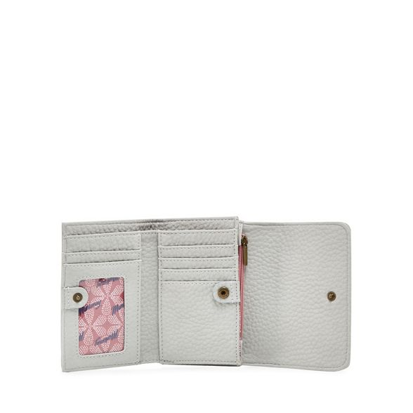 flapover medium detail Mantaray Grey purse eyelet qIxUZ