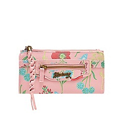 Mantaray - Pink floral zip top large purse