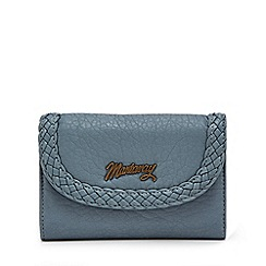 Mantaray - Light blue woven trim medium purse