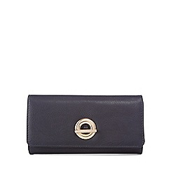 The Collection - Black circular fastening flapover medium purse