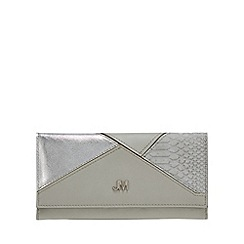 Star by Julien Macdonald - Grey textured patchwork large purse