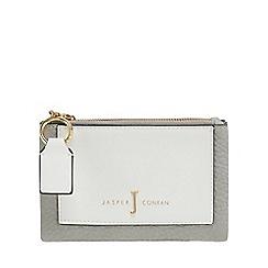 J by Jasper Conran - Grey panel detail fold over purse