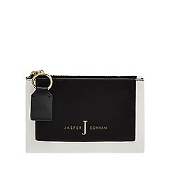 J by Jasper Conran - White panel detail fold over purse