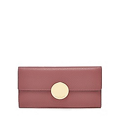 J by Jasper Conran - Pink circle fitting large flapover purse