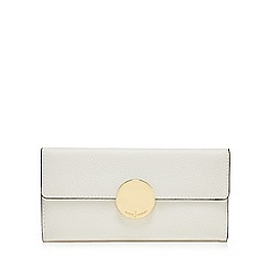 J by Jasper Conran - White circle fitting large flapover purse