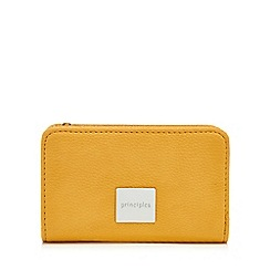 Principles - Yellow zip around small purse