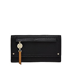 RJR.John Rocha - Black zip detail large foldover purse