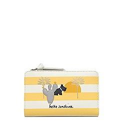 Radley - Yellow striped leather 'Hello Sunshine' medium purse