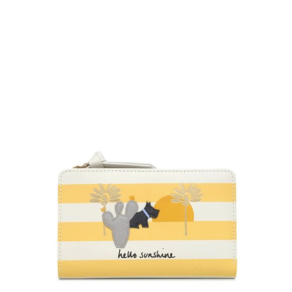 leather medium purse Sunshine' striped Radley 'Hello Yellow EwvfTWxqA