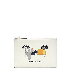 Radley - Off white leather 'Hello Sunshine' large pouch