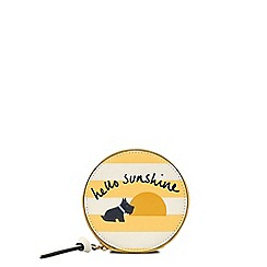 Radley - Yellow and white leather 'Hello Sunshine' small round purse
