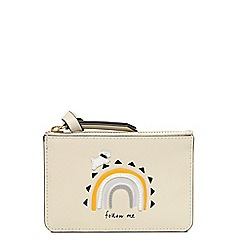 Radley - Cream leather 'Follow Me' small coin purse