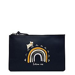 Radley - Navy leather 'Follow Me' large pouch