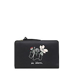 Radley - Black leather 'In Bloom' medium purse