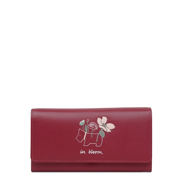 Radley matinee purse Bloom' large leather flapover Red 'In rcAqWYnr7
