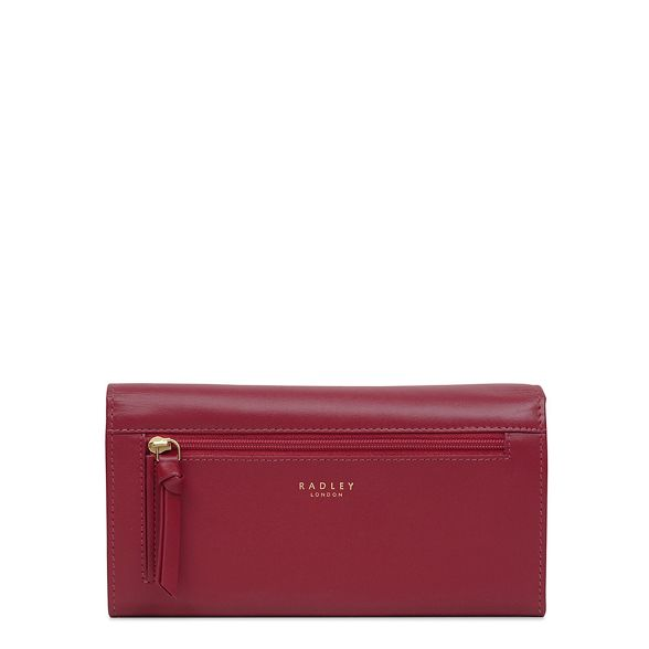 flapover matinee purse Red leather 'In Bloom' Radley large UqP6X