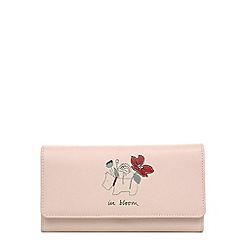 Radley - Light pink leather 'In Bloom' large flapover matinee purse