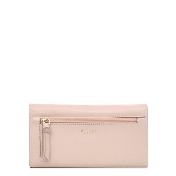 Bloom' pink 'In flapover Light Radley purse matinee leather large 1pfxqnF4w