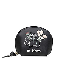 Radley - Black leather 'In Bloom' small coin purse