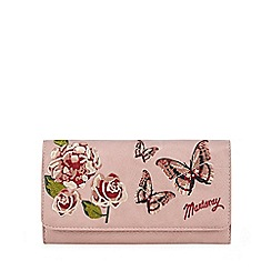Mantaray - Pink floral embroidered large flap over purse