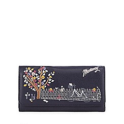 Mantaray - Navy bicycle embroidered large flap over purse