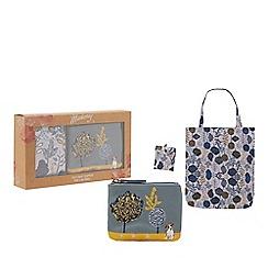 Mantaray - Grey dog coin purse and foldaway bag set