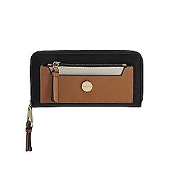 J by Jasper Conran - Black colour block large purse