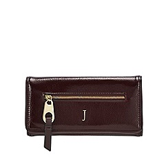 J by Jasper Conran - Dark red patent large purse