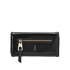 J by Jasper Conran - Black patent large purse