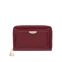 J by Jasper Conran - Wine red patent zip around medium purse