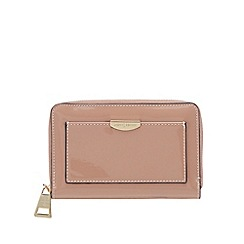 J by Jasper Conran - Light pink patent zip around medium purse