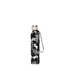 Radley - Black 'Data Dog' mini telescopic umbrella