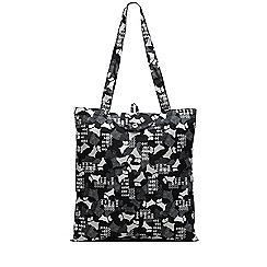 Radley - Black 'Data Dog' foldaway tote bag