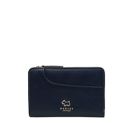 Radley - Navy leather 'Pockets' medium purse