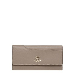 Radley - Taupe leather 'Pockets' large flapover matinee purse