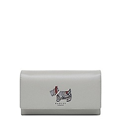 Radley - Grey leather 'Fenchurch Dog' large flapover matinee purse