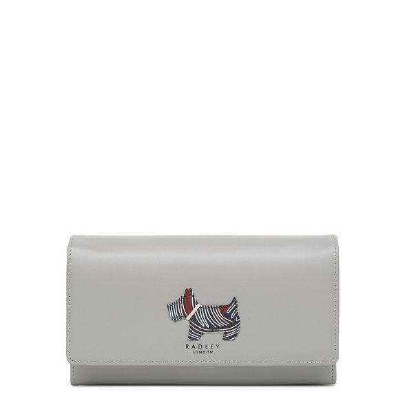 large 'Fenchurch Radley Grey leather matinee purse Dog' flapover qx6pUw