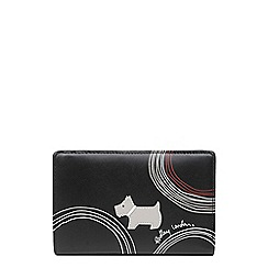 Radley - Black leather 'Fenchurch Circle' medium zip-top purse