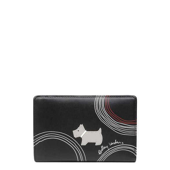 medium leather top Radley Circle' Black 'Fenchurch purse zip qgx164Hw1A
