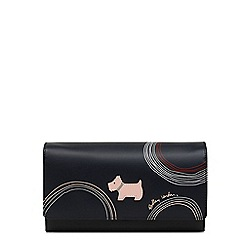 Radley - Navy leather 'Fenchurch Circle' large flapover matinee purse