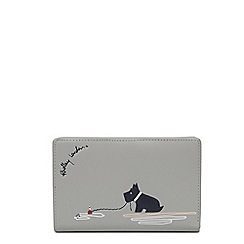 Radley - Grey leather 'Fenchurch Fishing' medium zip-top purse