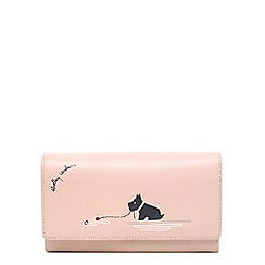 Radley - Pink leather 'Fenchurch Fishing' large flapover matinee purse